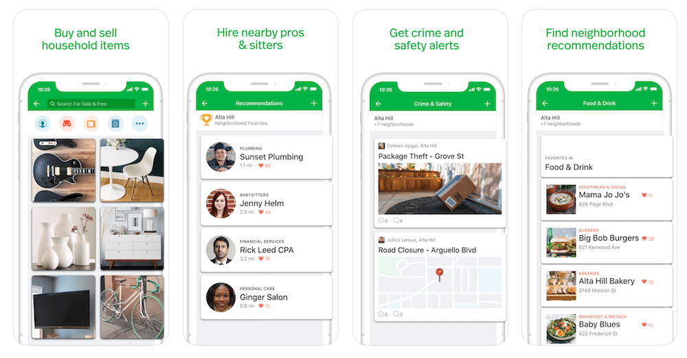Nextdoor neighbourhood social media